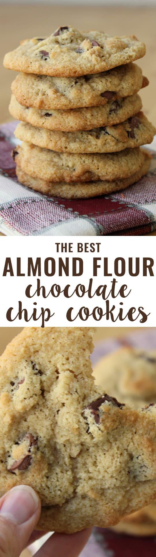 Almond Flour Chocolate Chip Cookies Sugar Free