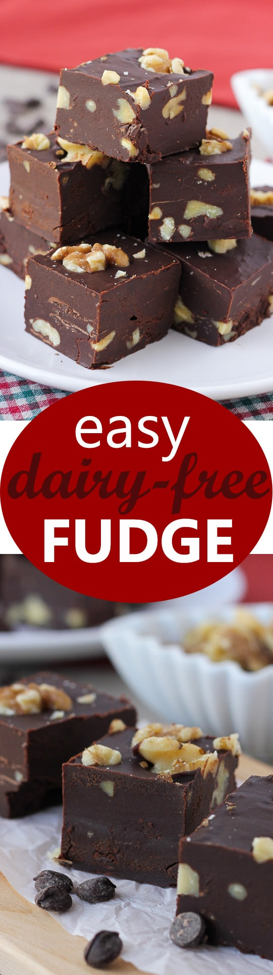 Easy, Dairy-Free Fudge! Refined-Sugar-Free and foolproof!