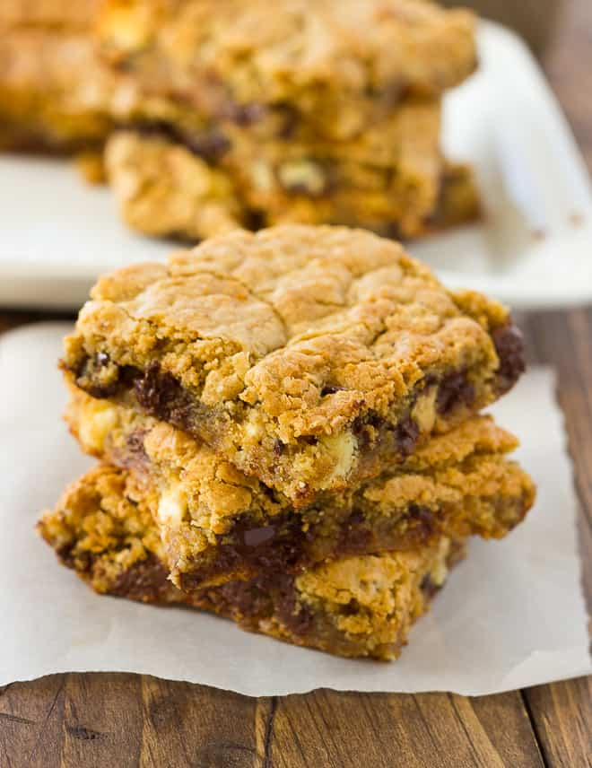 Almond Flour Blondies! Chewy, gooey and delicious. Gluten-Free/Grain-Free