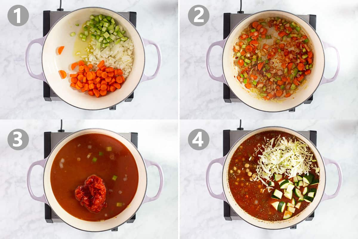 step by step photos for how to make minestrone soup