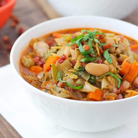 Artichoke, White Bean, & Vegetable Soup <br/> {Gluten-Free, Dairy-Free}