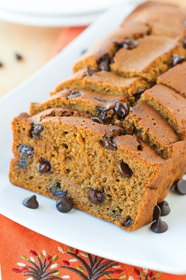 The Best Gluten-Free Pumpkin Chocolate Chip Bread! Incredibly flavorful and super moist!