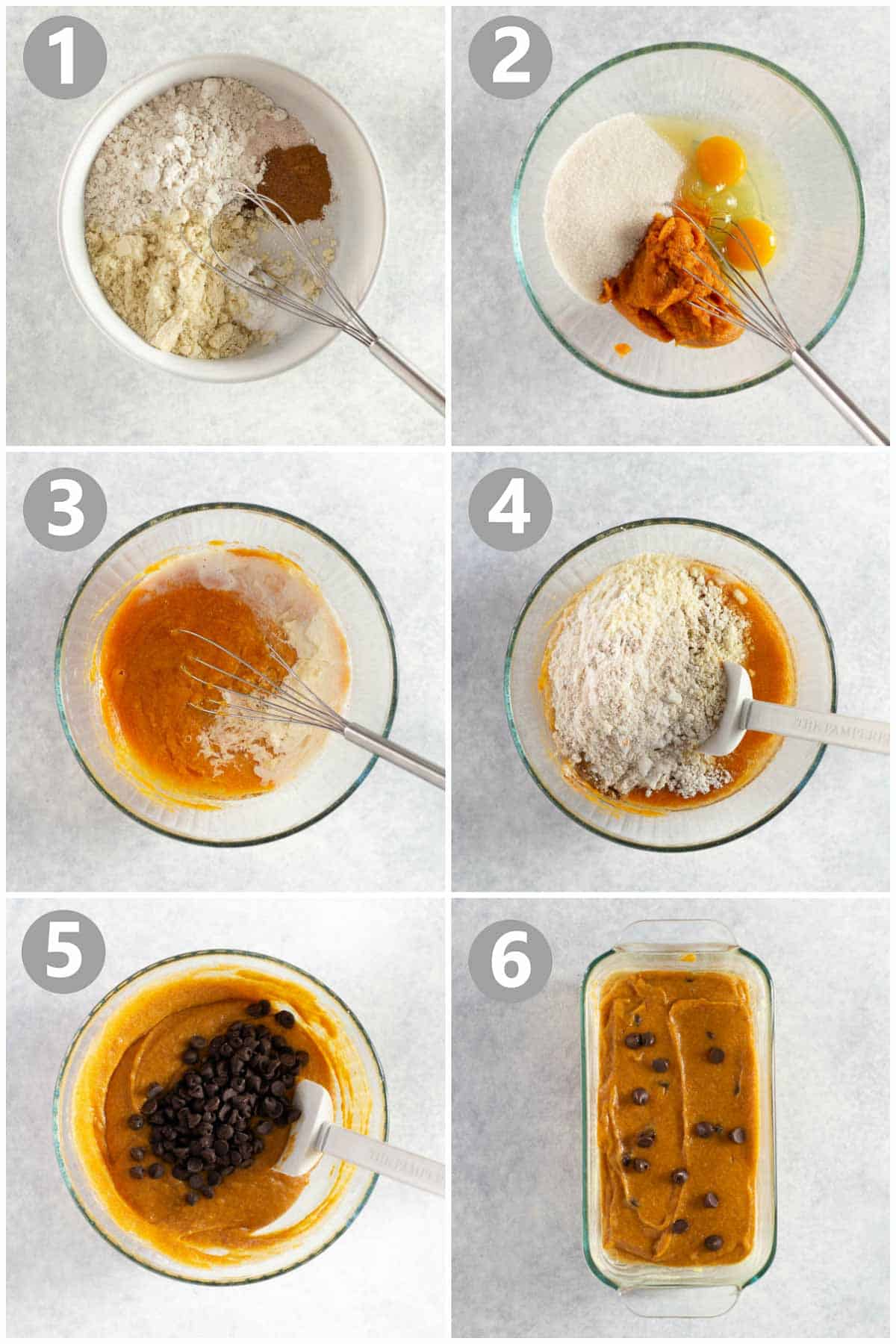 step-by-step instructions on how to make gluten-free pumpkin bread