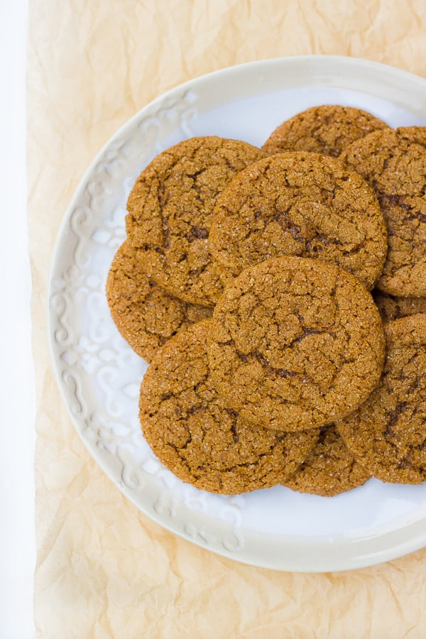 Gluten-Free Chewy Molasses Crinkle Cookies! Chewy, sparkling with sugar and delicious!