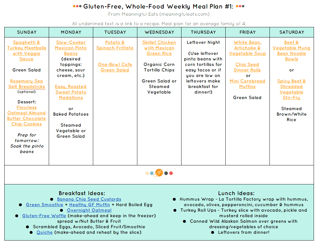 Gluten-Free, Family-Friendly, Healthy Meal Plans