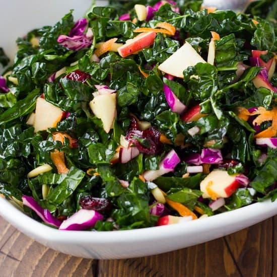 No-Fail Cranberry Kale Salad {Gluten-Free, Dairy-Free}
