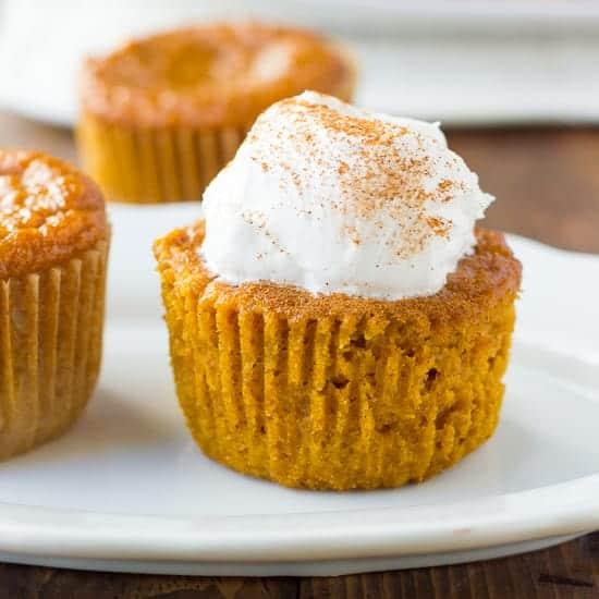 Gluten-Free Crustless Pumpkin Pie Cupcakes {Dairy-Free}