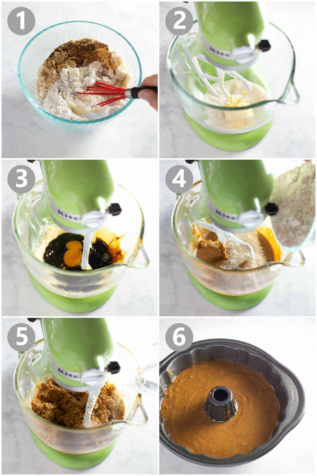 step by step instructions of how to make gluten-free gingerbread