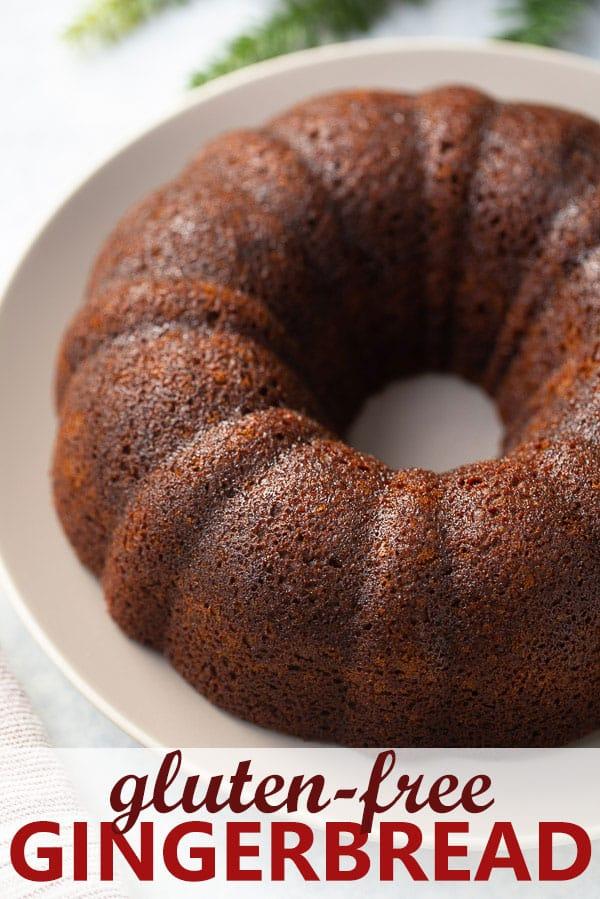 shot of gluten-free gingerbread bundt cake