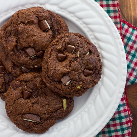 Gluten-Free Double Chocolate Peppermint Cookies {Dairy-Free Option}