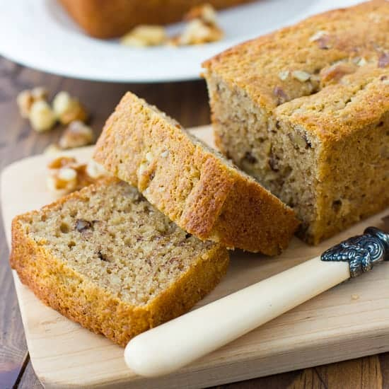 Gluten-Free Maple-Syrup-Sweetened Banana Bread {Dairy-Free}