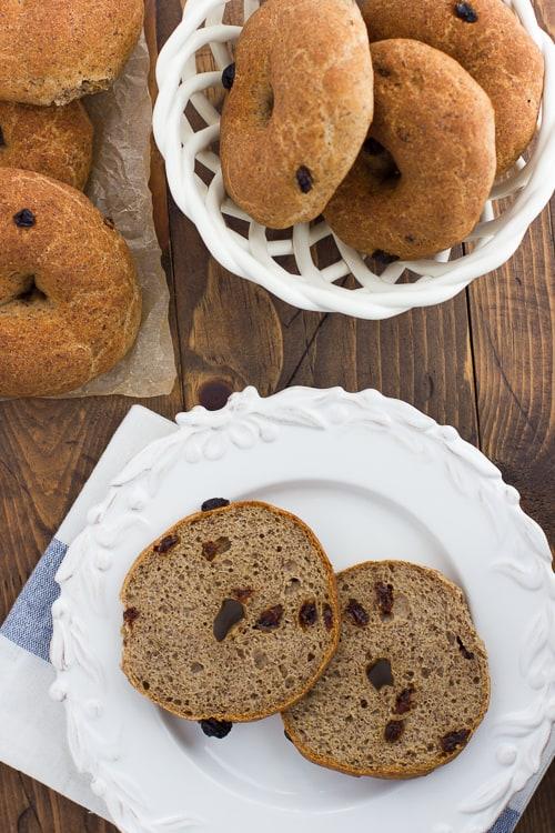 Buckwheat Cinnamon Raisin Bagels! Gluten-free, vegan and easy to make!