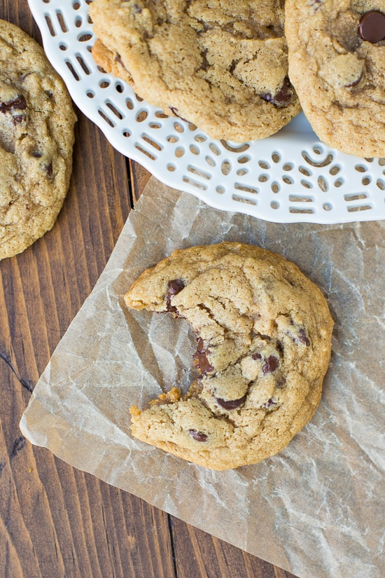 Buckwheat Chocolate Chip Cookies! 1 bowl. 1 flour. Easy and beyond delicious!
