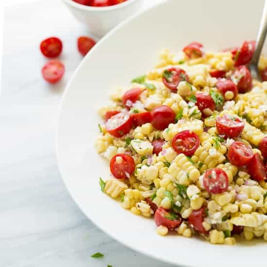 Summer Corn, Tomato & Feta Salad