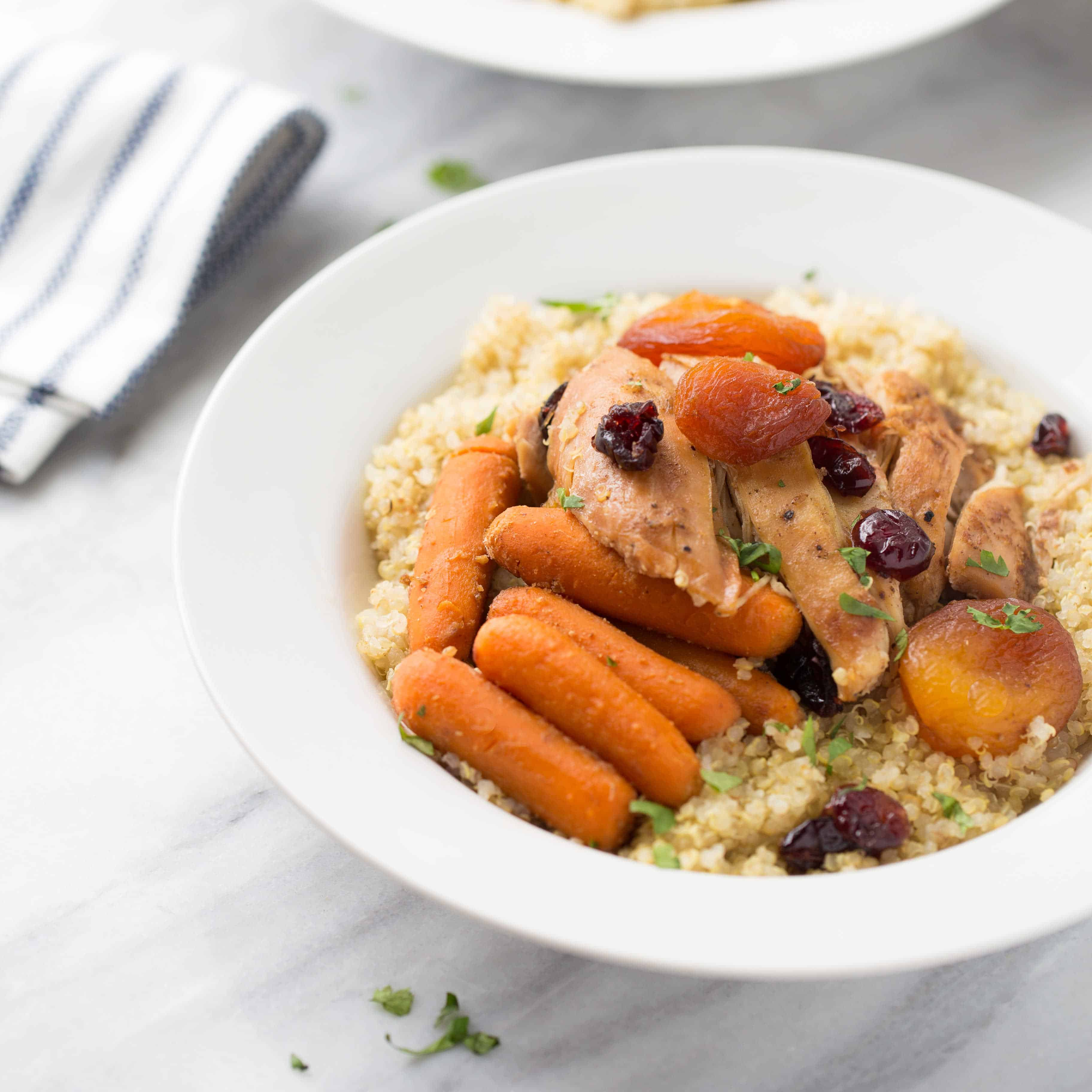 Slow-Cooker Moroccan Apricot Chicken & Carrots {Gluten-Free}