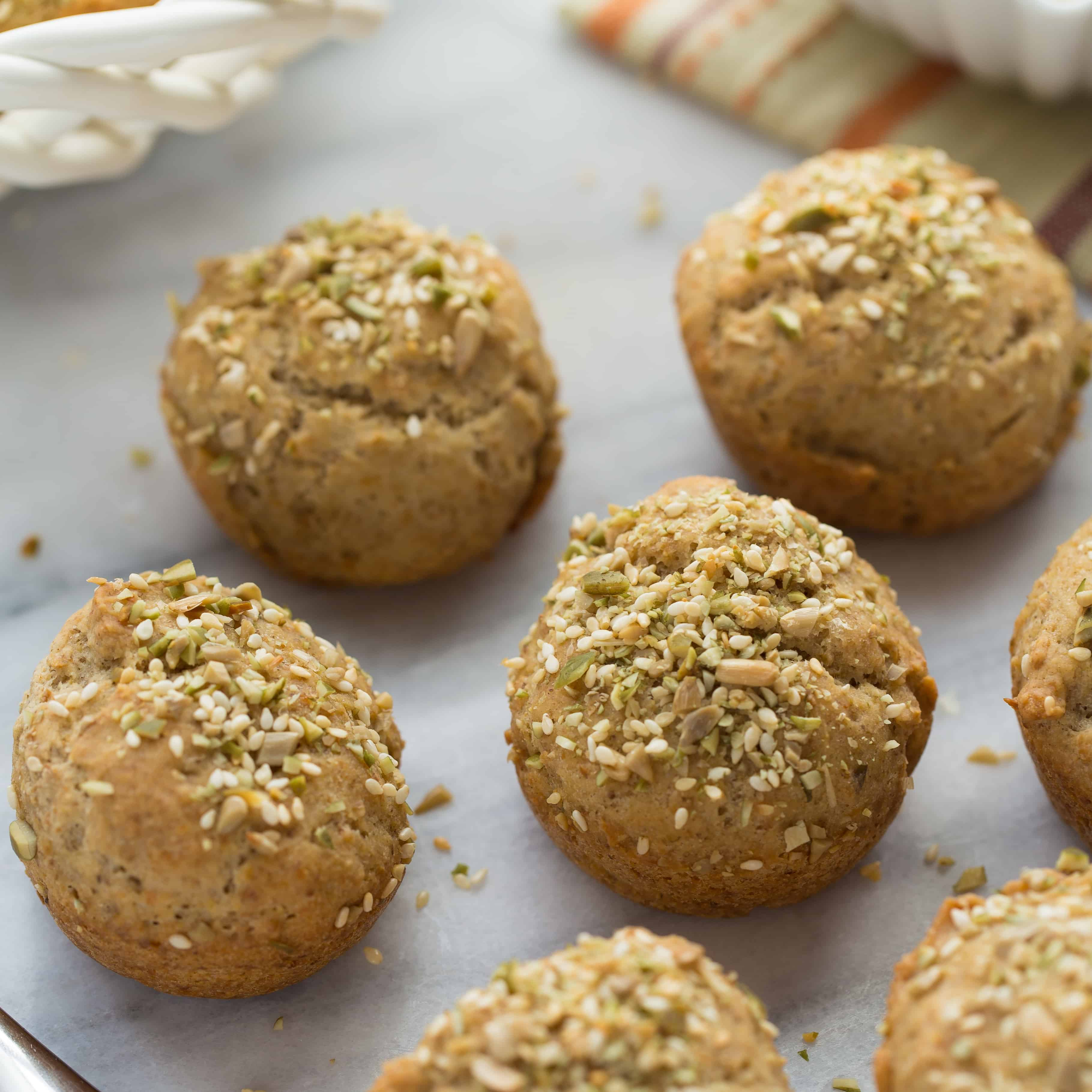 Gluten-Free Crusty Seeded Rolls {Vegan}