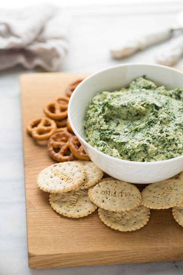 Clean-Eating Spinach Artichoke Dip! The perfect flavorful, healthy snack. (Dairy-Free, Paleo, Vegan)