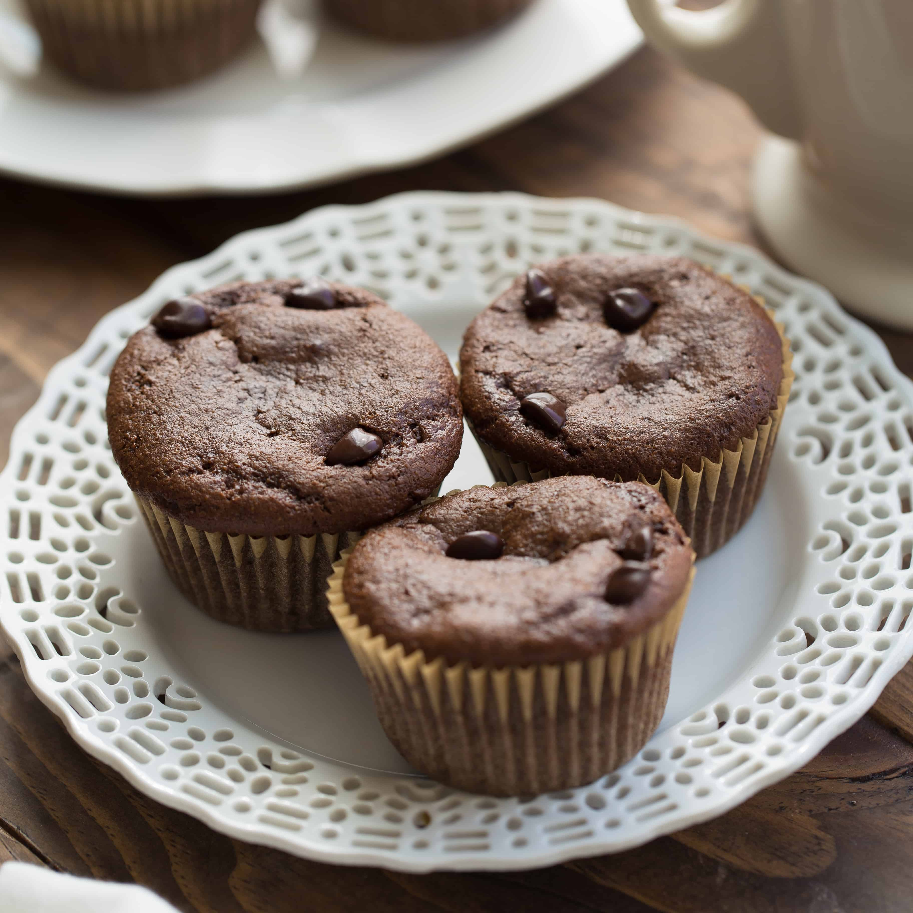 Healthy Chocolate Almond Butter Muffins