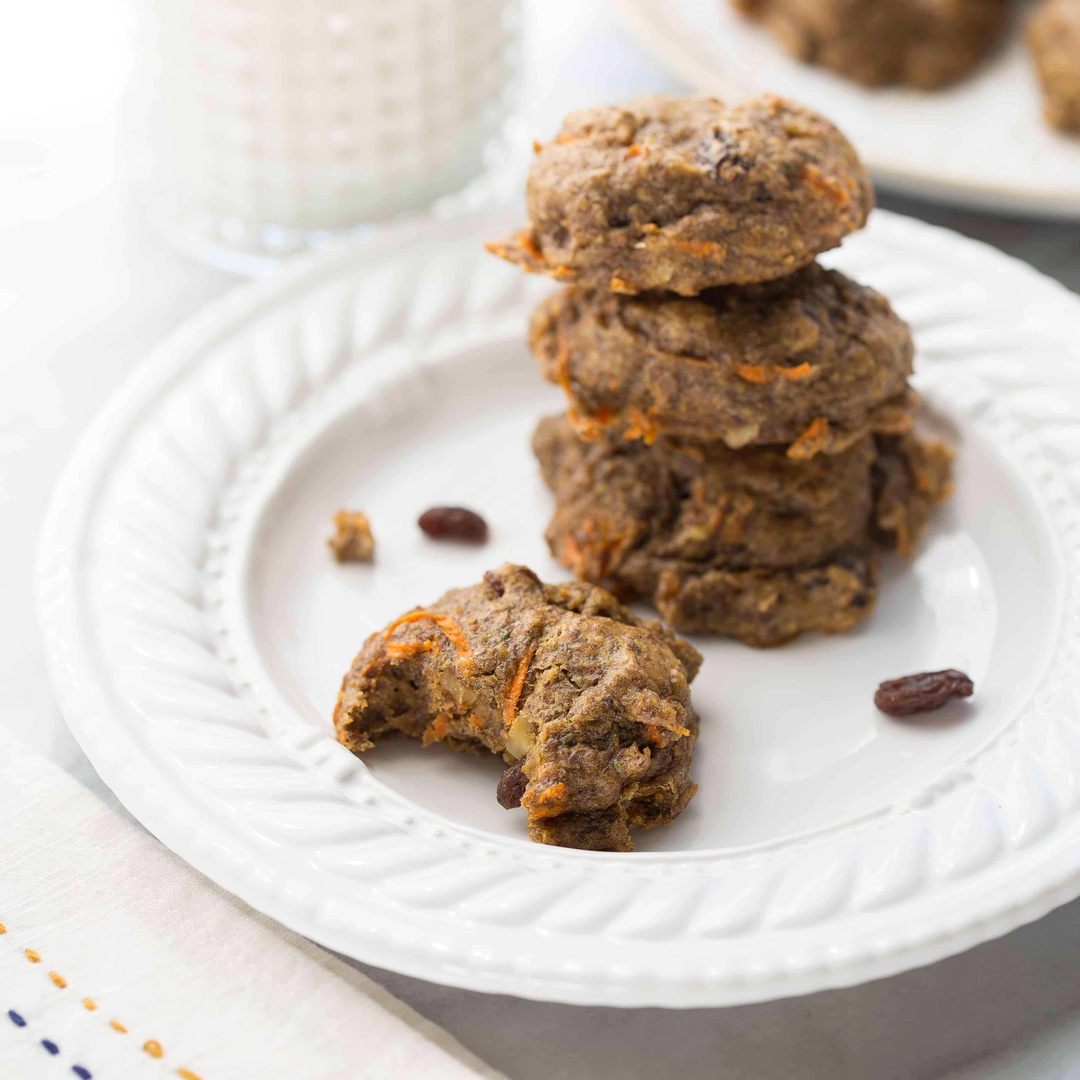 Carrot Cake Power Cookies {Gluten-Free, Vegan}