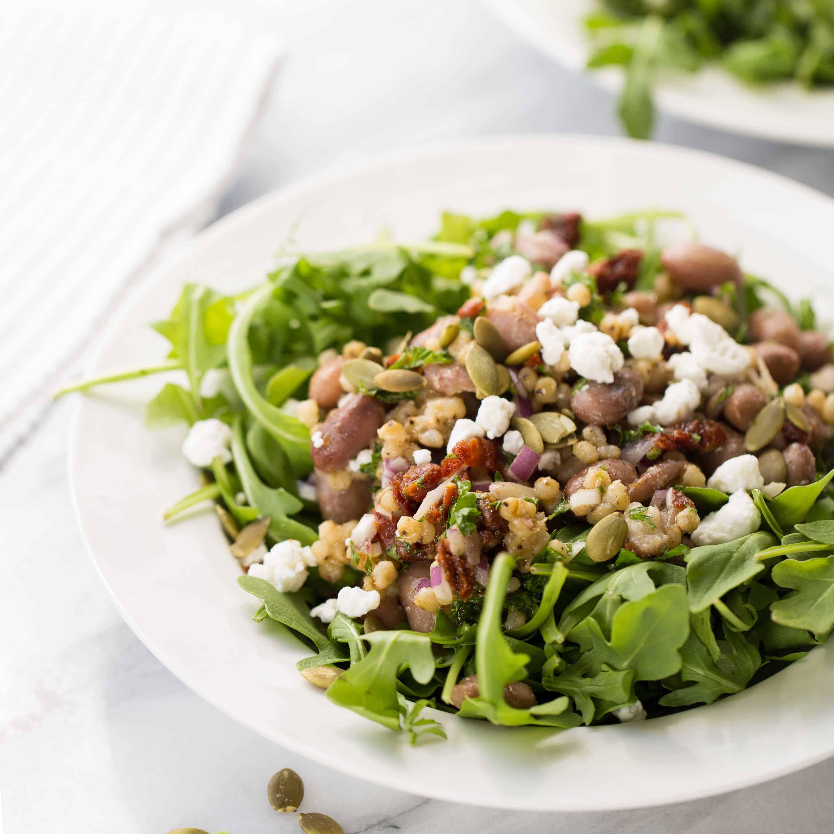 Cranberry Bean Sorghum & Sun Dried Tomato Salad