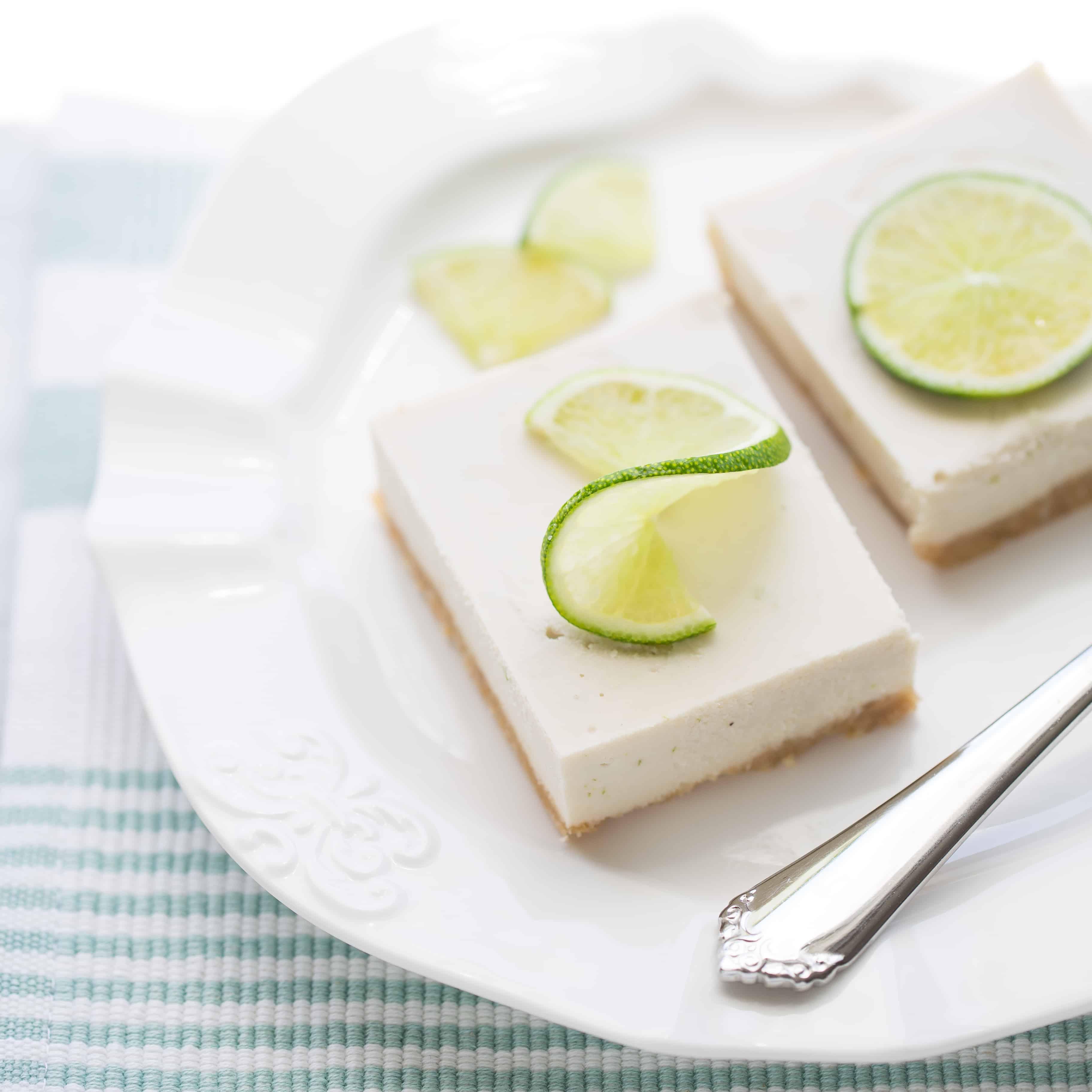 Vegan Key Lime Pie Bars {Gluten-Free}