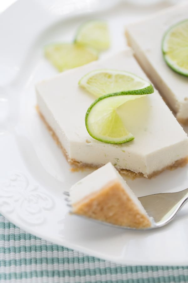 Vegan & Gluten-Free Key Lime Pie Bars! Creamy, tart and so easy to make!