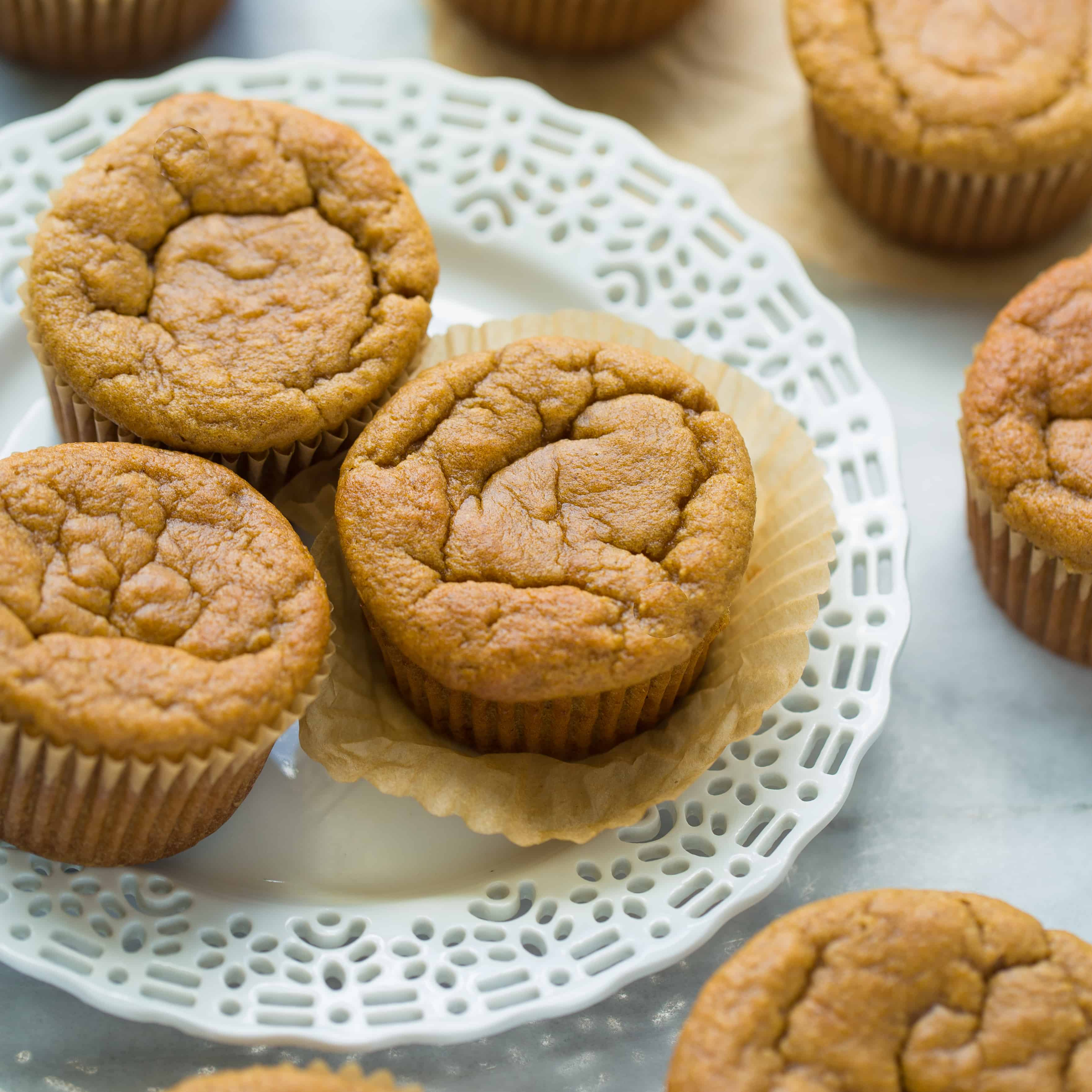 Coconut Flour Peanut Butter Banana Protein Muffins