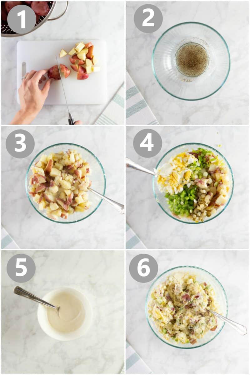 steps of how to make potato salad