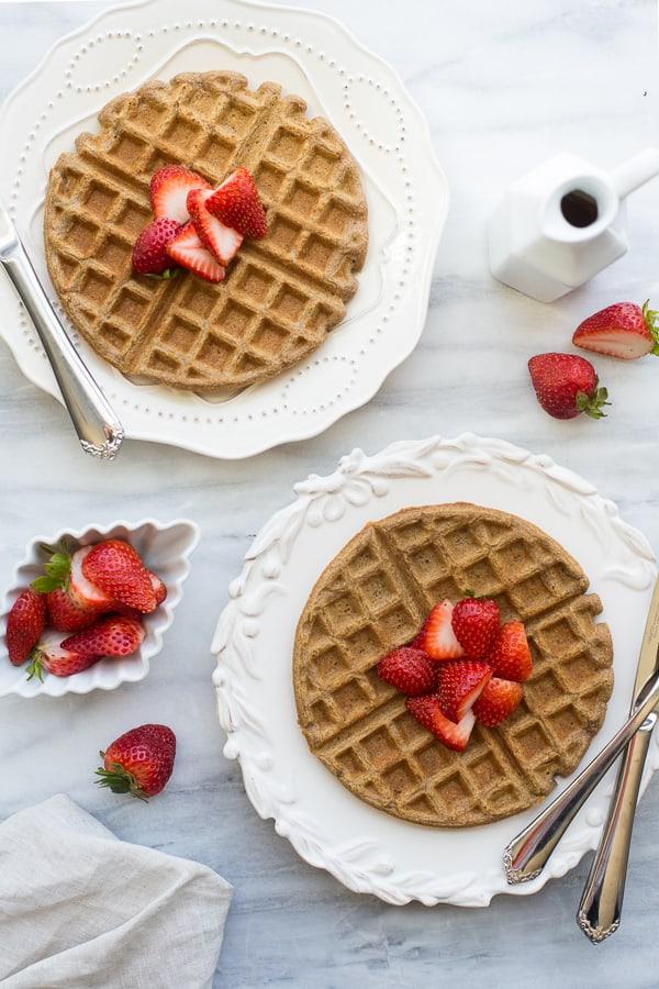 The Best 100% Buckwheat Waffles {Gluten-Free} - Meaningful Eats