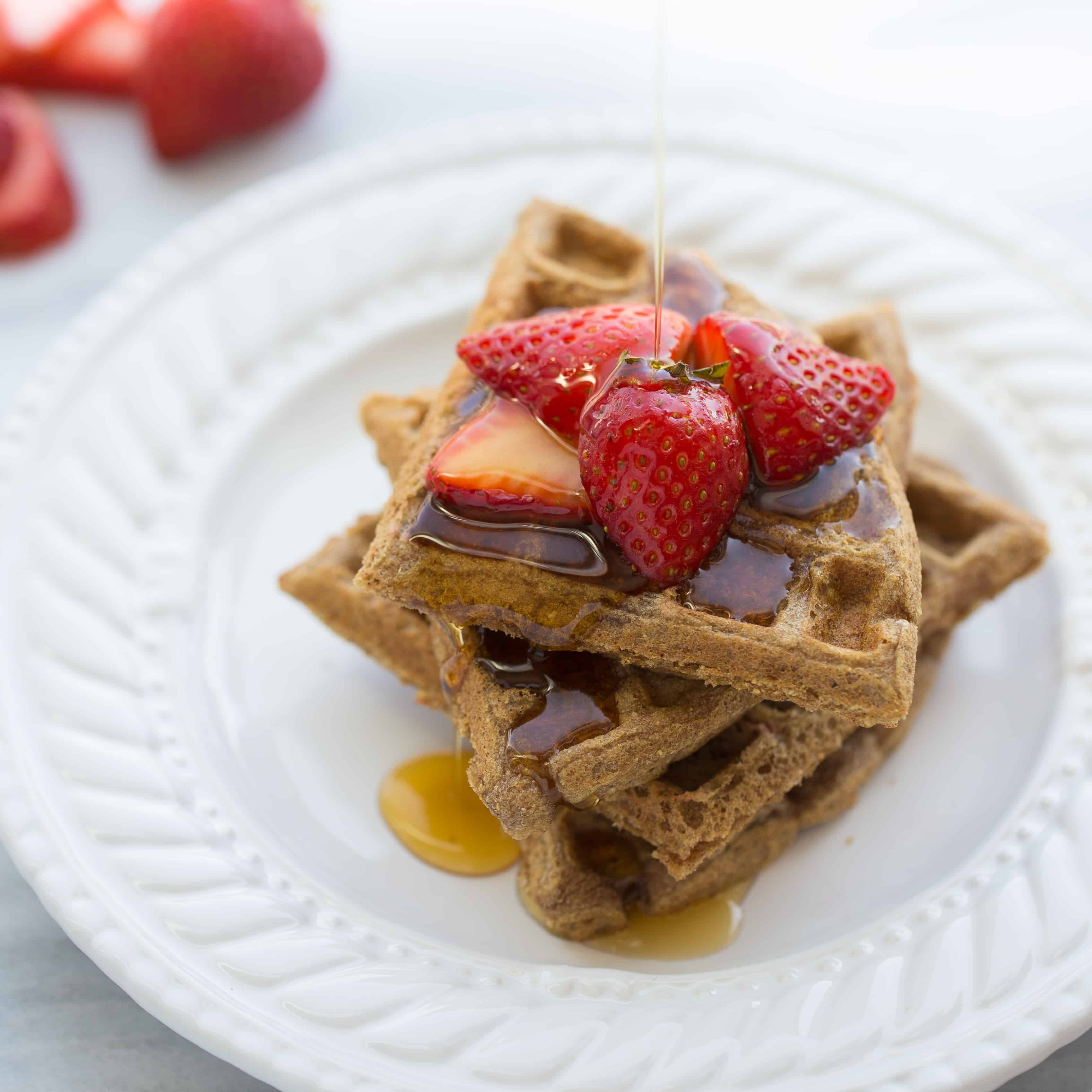 The Best 100% Buckwheat Waffles {Gluten-Free}