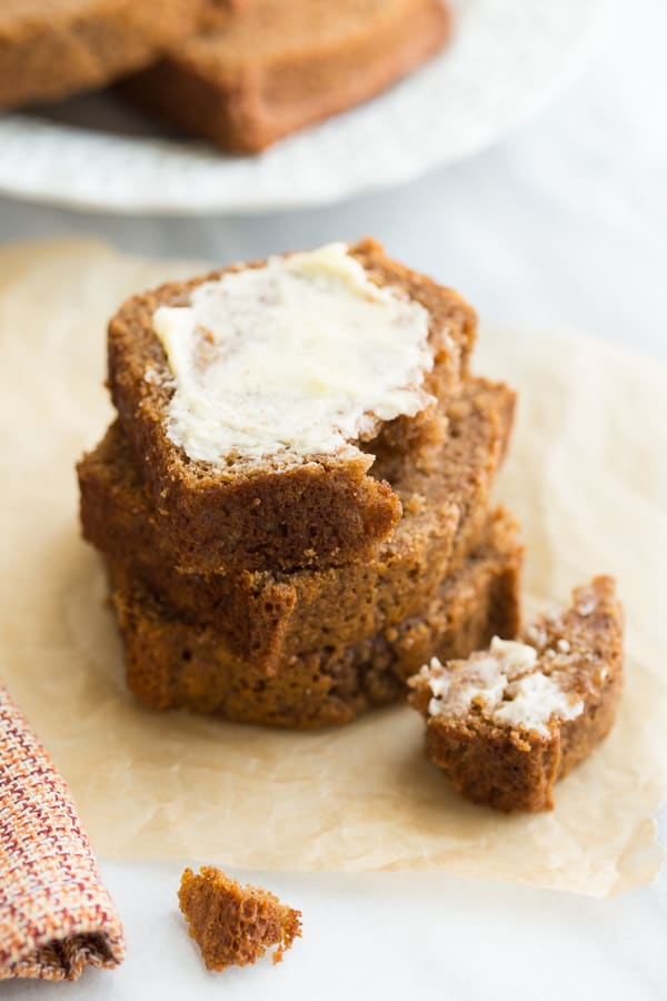 Gluten-Free Applesauce Bread! Cinnamon-spiced bread that will make your whole house smell like fall! {Dairy-Free}