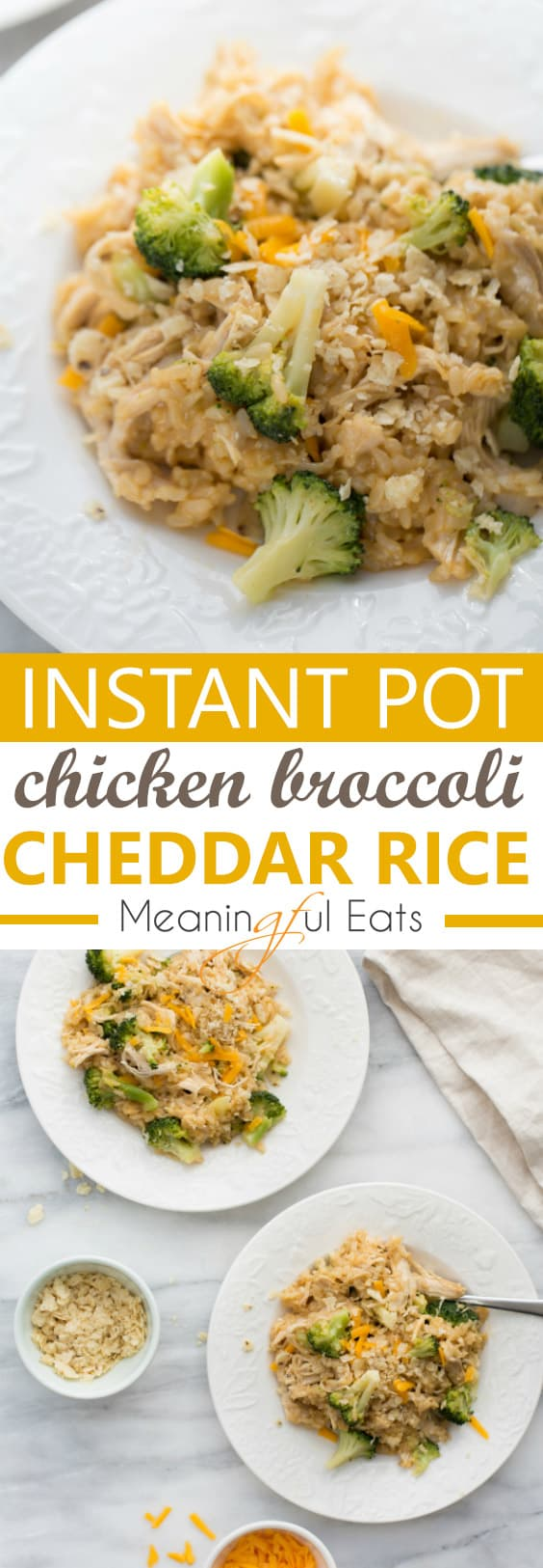 Instant Pot Chicken, Broccoli and Cheddar Rice! #instantpot #instantpotrecipes #instantpotchickenandrice #easyinstantpotrecipes #glutenfreeinstantpot #instantpotdinner #glutenfreedinner #glutenfree