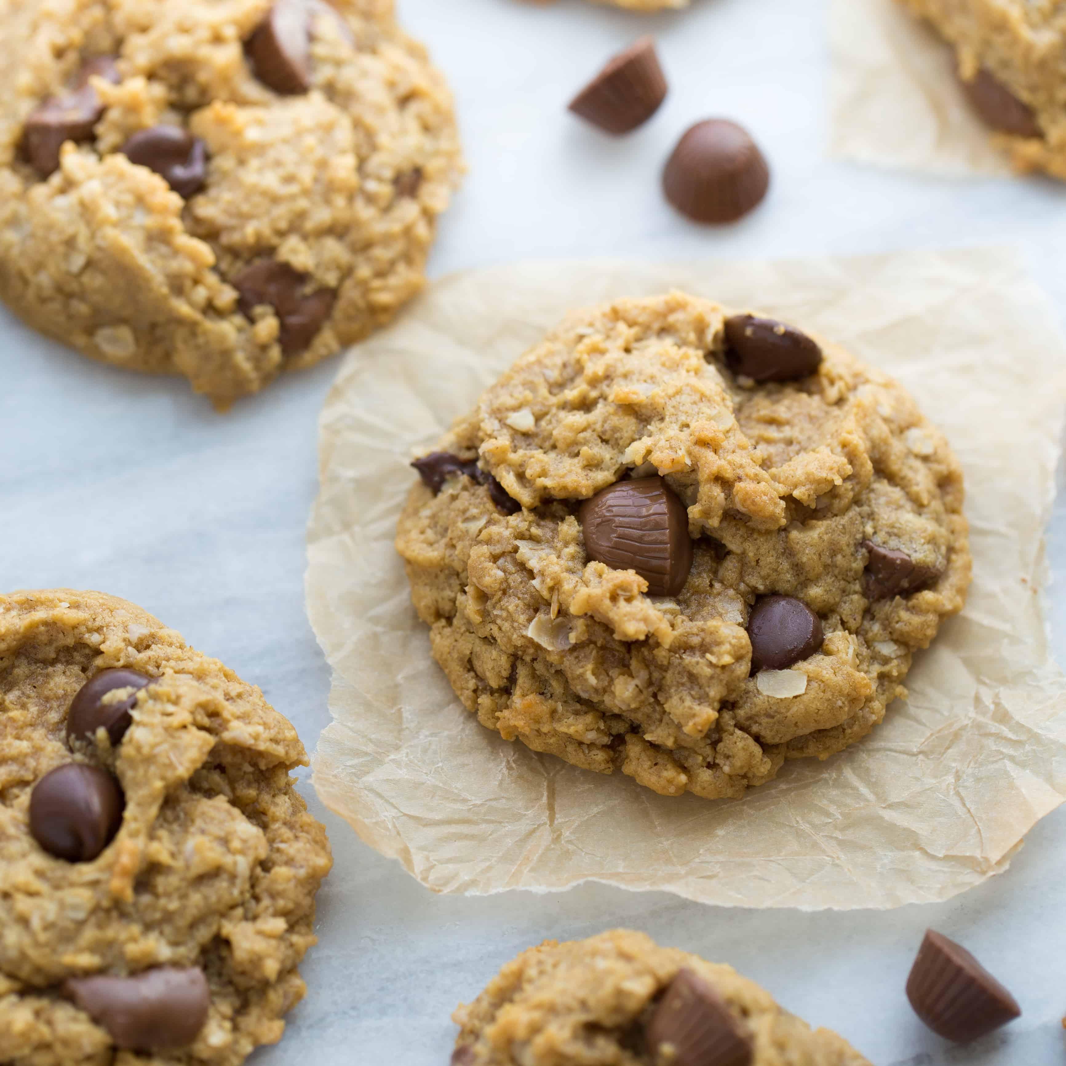 Peanut Butter Monster Cookies {Gluten-Free}