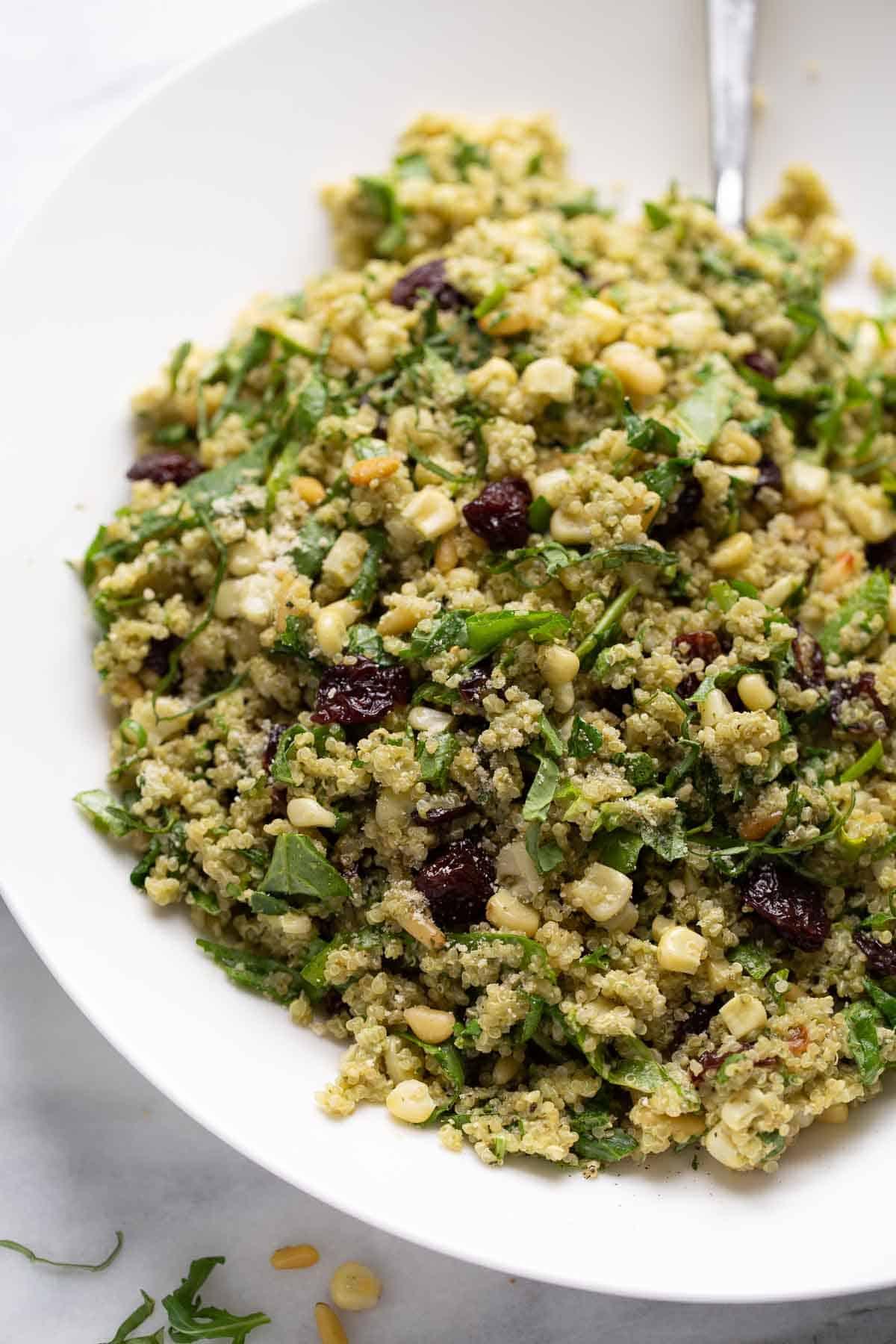 large bowl of quinoa salad