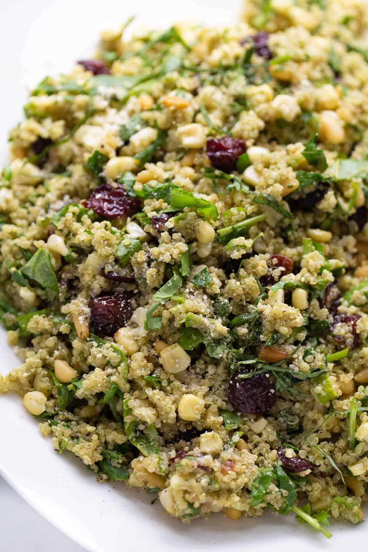 close up shot of quinoa salad