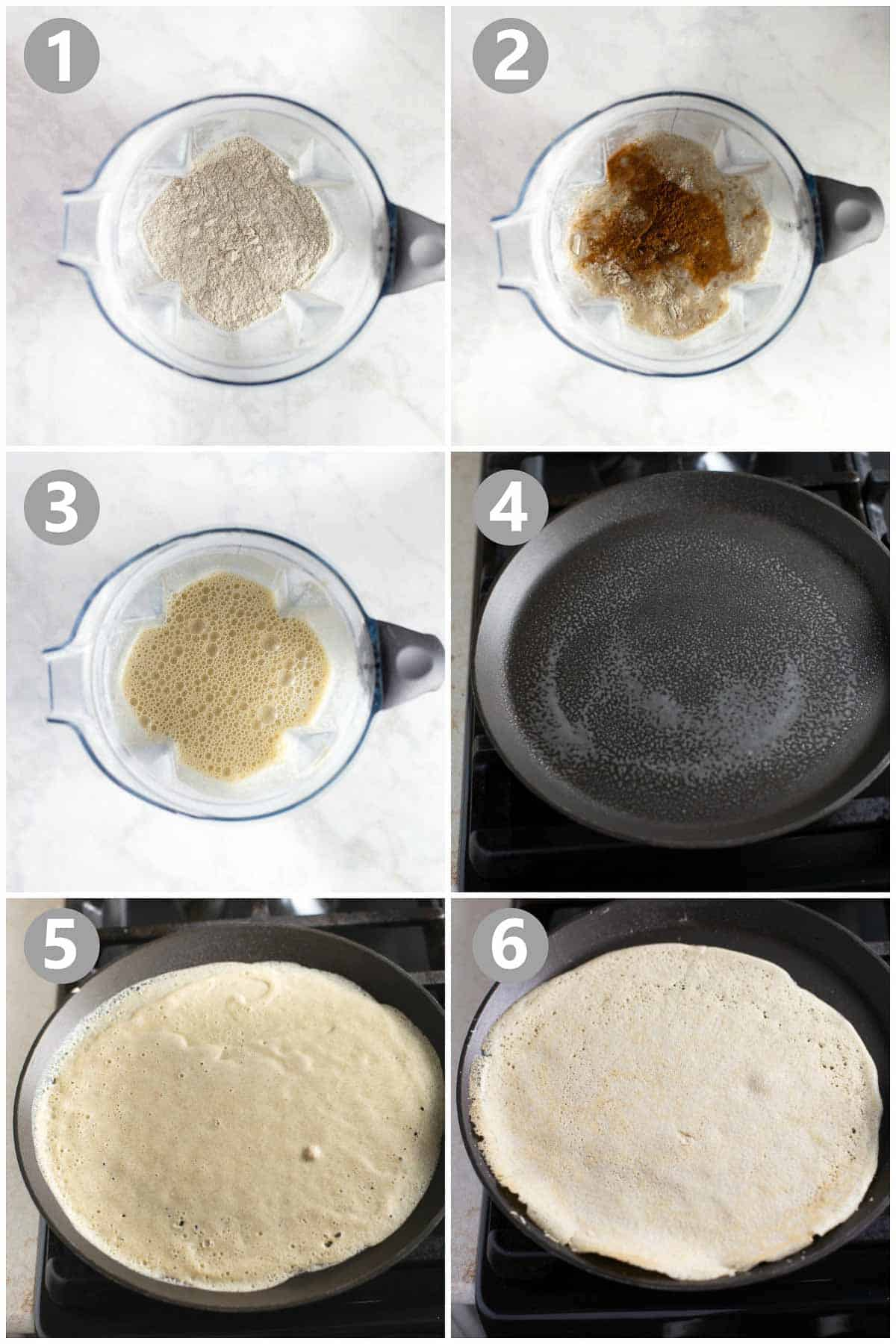 step-by-step instructions for how to make buckwheat crepes