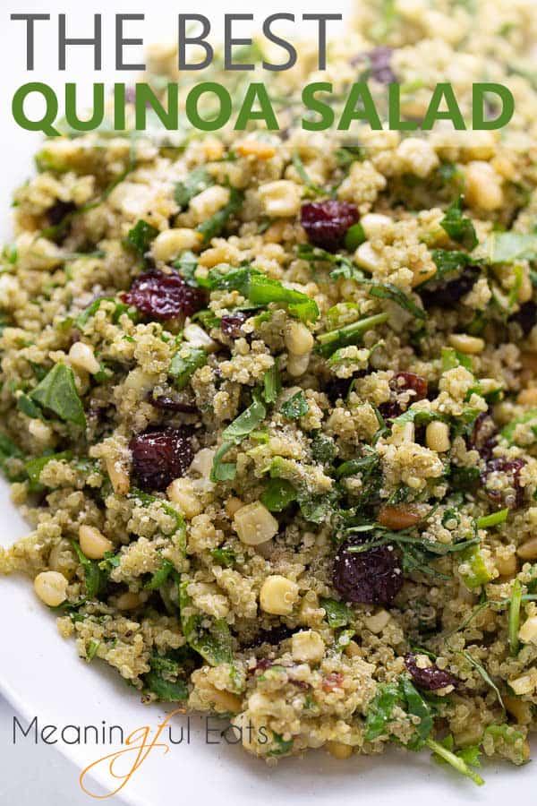 pinterest image for best quinoa salad